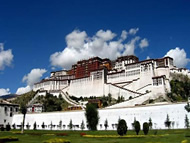 the Holy Potala Palace in Lhasa
