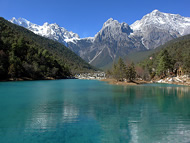 Yulong Snow Mountain in Yunnan Province