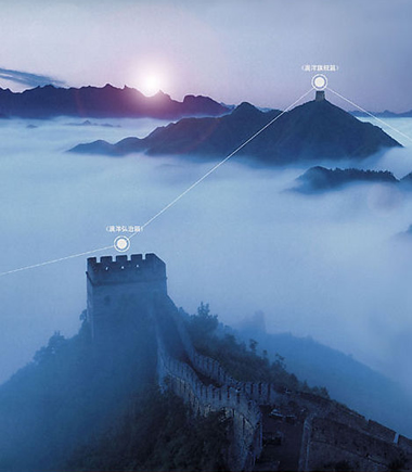 How were the messages sent along the wall?The Great Wall of China